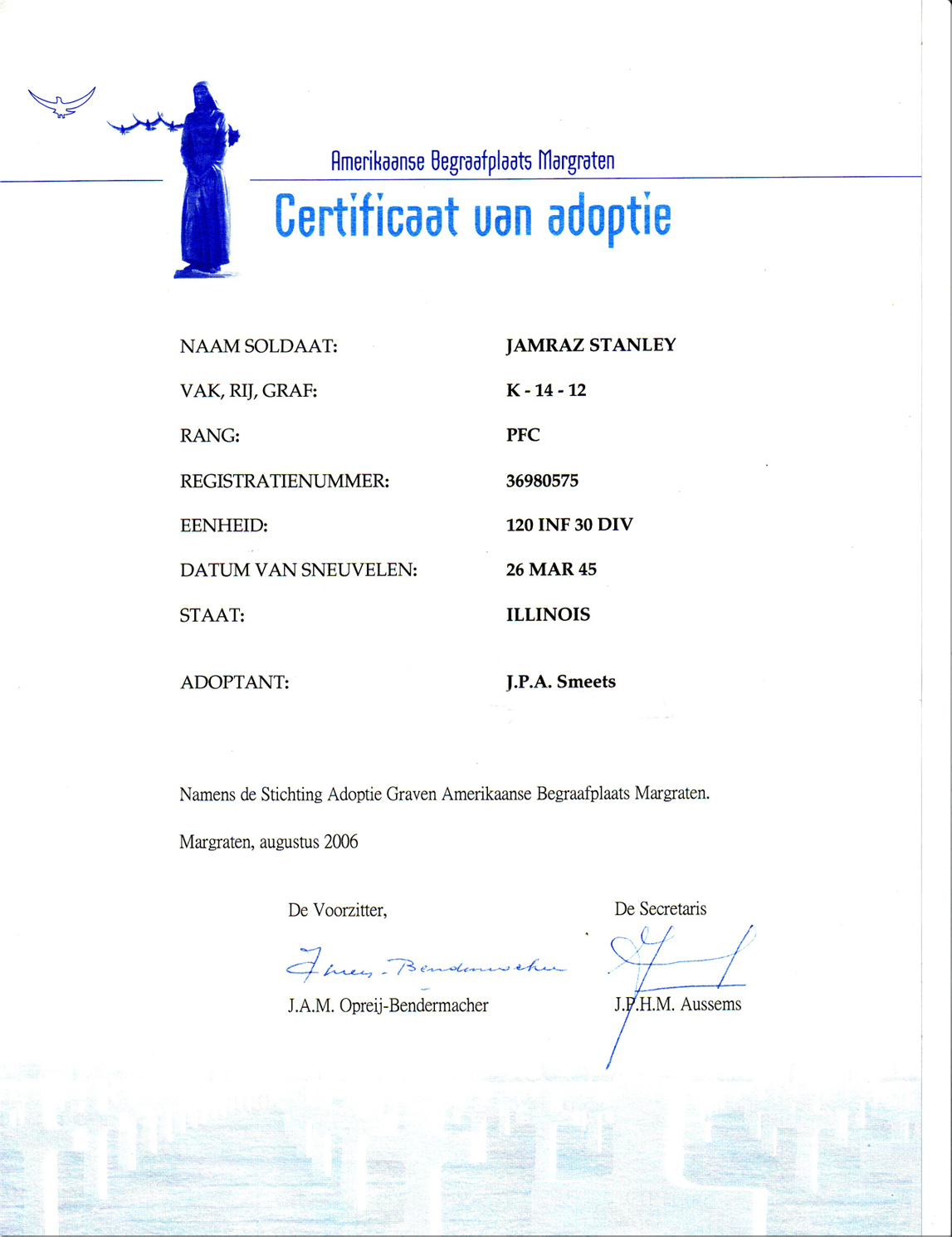 The adoption certificate